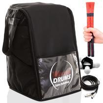 Kit - Bag Case Cajón Inclinado -  05 Acessórios Percussivos - Witler Drums