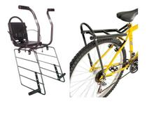 Kit Bagageiro AL117 + Cadeirinha Bicicleta Para Bagageiro AL17 - Altmayer -