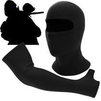 Kit balaclava touca ninja térmica + par manguito proteção solar paintball air soft caça pesca - Byracer