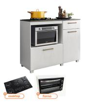 Kit Balcão de Cozinha MOOB com Cooktop Itatiaia 5 bocas e Forno Eletrico Best 56 L 127V - Fiorello