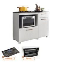 Kit Balcão de Cozinha MOOB com Cooktop Itatiaia 5 bocas Tripla Chama e Forno Eletrico Best 56 L 127V - Fiorello