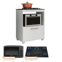 Kit Balcão de Cozinha MOOB com Cooktop Mueller 5 bocas e Forno Eletrico Grafite Mueller 44 L 220V - FIORELLO