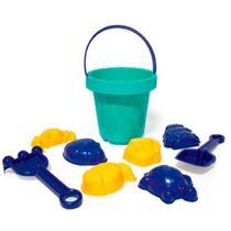Kit Balde Com Acessórios Brinquedo Para Praia 8 Peças - Plasnorthon