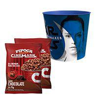 Kit balde star wars jedi + 2 pipocas pronta sabor chocolate - Cinemark