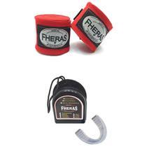 Kit Bandagem Vermelho + Protetor Bucal Transparente Fheras -