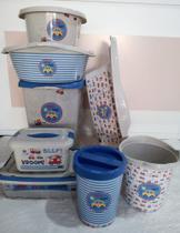 Kit banheira, lixeira, cesto, cx organizadora, bacia, balde, banheira sensitive carr - Plasutil