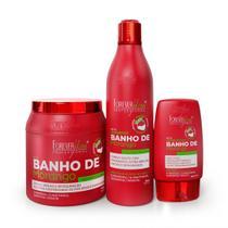 Kit Banho de Verniz Morango Profissional Brilho Extremo Forever Liss -
