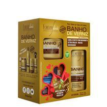 Kit Banho de Verniz Shampoo 300ml + Máscara 250g - Forever Liss -