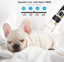 Kit Banho Máquina Profissional Tosa Pet Recarregável Bivolt + Lixa + Pente e Alicate Cortador Unhas - Ebai