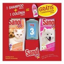 Kit Banho Sanol Dog Shampoo Neutro 500ml + Colônia Filhote 120ml Grátis Condicionador 500ml -