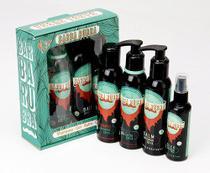 Kit Barba Completa com Shampoo, Balm, Óleo e Gel para Barbear - Barba Rubra -