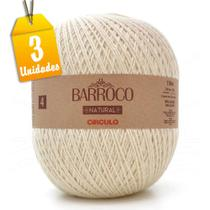 Kit Barbante Barroco Natural 4/4 4 Fios 700g - 3 unidades - Círculo