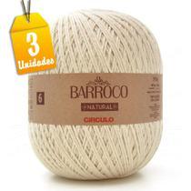 Kit Barbante Barroco Natural 4/6 6 Fios 700g - 3 unidades - Círculo
