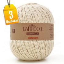 Kit Barbante Barroco Natural 4/8 8 Fios 700g - 3 unidades - Círculo