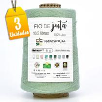 Kit Barbante de Juta Colorido 500g 790 Metros Verde Água - 3 Unidades - Castanhal