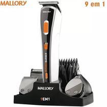 Kit Barbeador Aparador De Pelos Mallory Multi Groom 9 Em 1 -