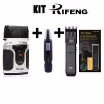 Kit Barbeador Aparador De Pêlos Máquina Corte Rifeng Orignal -