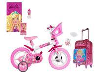 Kit Barbie com Bicicleta + Mochila + 5 itens - Exp