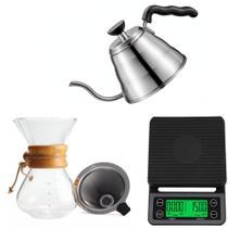 Kit Barista Profissional Chaleira Passador Balança Para Café - Mm