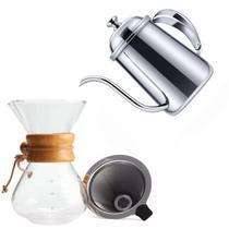 Kit Barista Profissional Passador Para Café E Bule Inox - MM