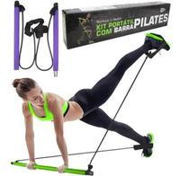 Kit Barra De Pilates Portátil Exercício Casa Pernas Glúteos - Mbfit