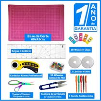 Kit Base De Corte 60x45 Régua Lâmina Cortador Patchwork - Redshock