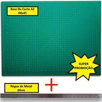 Kit Base de corte A2 + Régua de metal 60cm - Lanmax
