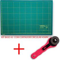 Kit base de corte A3 + Cortador Circular ROSA LANMAX - Lanmax / Westpress