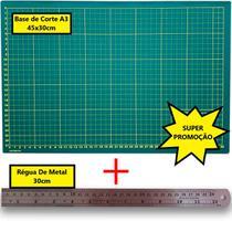 Kit base de corte A3 + Régua de metal 30cm - Westpress / Lanmax