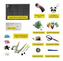 Kit Base De Corte Cortador Régua Alicate Botão Plástico Rita - Adb Acessorios Para Patchwork