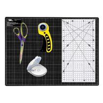 kit Base De Corte Preta A3 45x30 Artesanato Patchwork Scrapbook - Universal