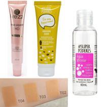 Kit Base Liquida Trezz Matte Hd  Mais Tratamento Facial -