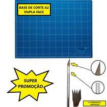 Kit Base Placa de Corte A2 45x60cm + Estilete Bisturi em Alumínio - Westpress / Lanmax