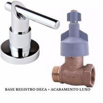 Kit Base Registro Deca Gaveta + Acabamento 11/2 Geral - Brasil