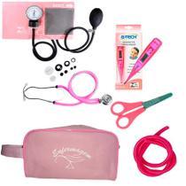 Kit Basic para Enfermagem com Aparelho de Pressão e Estetoscópio Duplo Rappaport - Premium, G-Tech, Incoterm