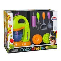 Kit batedeira color chefs usual 412 laranja/verde* - Usual Plastic