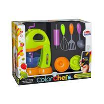 kit Batedeira Com Assessórios Color Chefs Usual Plastic  413 Unissex + 3 Anos APP GAME ANDROID - Usual Plastic Brinquedos 413