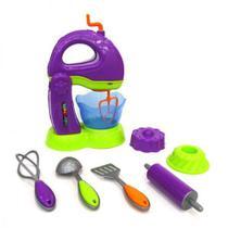 Kit Batedeira Cozinha Infantil Color Chefs Usual Brinquedos com App -