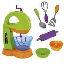 Kit Batedeira Infantil Color Chefs com Utensilhos - Usual Brinquedos -