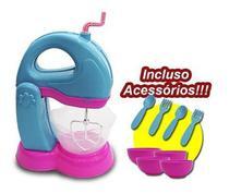 Kit Batedeira Le Chef Colorida Coleção Cook - Usual Plastic - Usual Brinquedos