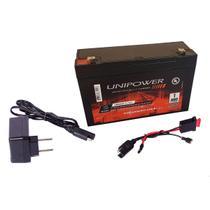 Kit Bateria 6v 12ah + Carregador + Chicote - Moto Elétrica - Unipower