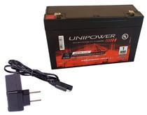 Kit Bateria 6v 12ah + Carregador - Moto Elétrica, Brinquedo - Energy Power