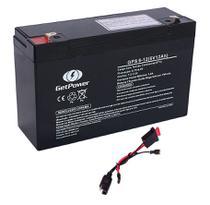 Kit Bateria 6V 12ah GetPower + Chicote -Moto Elétrica - Get Power