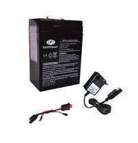 Kit Bateria 6v 4,5ah + Carregador + Chicote - Moto Elétrica - Get Power