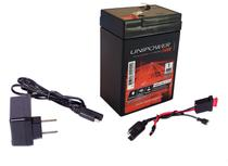 Kit Bateria 6v 4,5ah + Carregador  Led + Chicote - Outras Marcas