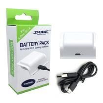 Kit Bateria Branca + Cabo Carregador Controle Xbox One (S)/X - Dobe