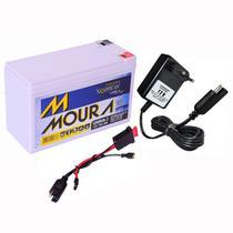 Kit Bateria Moura Gel Selada 12V 7ah + Carregador + Chicote -