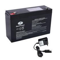 Kit bateria selada 6V 12ah + carregador 6v 900mah bandeirantes - Energy / Planet / Unipower