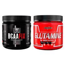 Kit BCAA Fix 5:1:1 240g + L-Glutamina 300g - Integralmedica -
