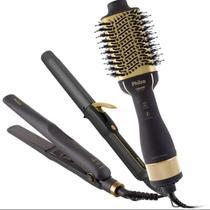 Kit Beauty Black PKT3200 Philco, Escova Secadora + Cacheador + Prancha, 1300W - Bivolt -